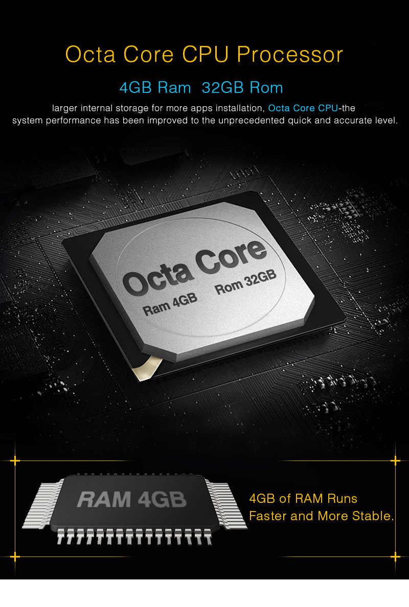 カボチャ 2 Din 7 ''アンドロイド 8.0 カーマルチメディア DVD プレーヤー GPS ナビゲーションオクタ · コア 4 グラム RAM 32 グラム ROM 車ラジオアウディ A4 2003-2008