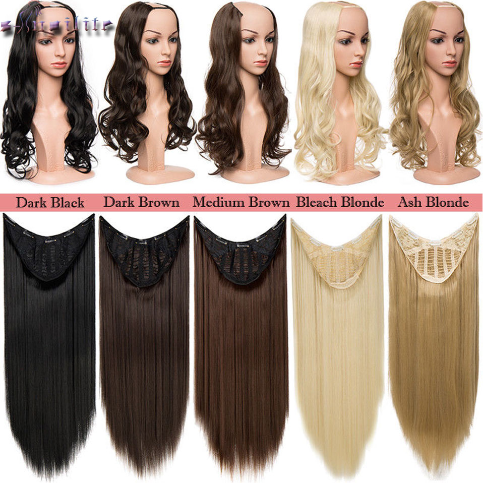Hot Sale S Nolilite 180 200g Natural U Part Synthetic Hair Extension