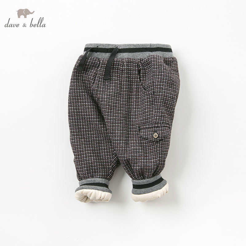 DB9044 dave bella winter baby boys fashion padded trousers kids plaid pants children boutique clothes db5612 dave bella winter baby boys full length kids fashion plaid pants children trousers