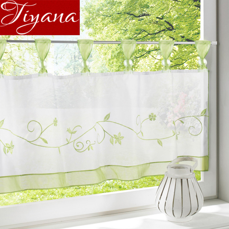Aliexpress.com : Buy Purple Short Curtain Green Sheer