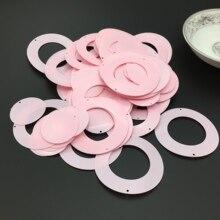 50 г твердый светло-розовый 50 мм Круглый Круг блестки ПВХ плоские для Свадебные украшения своими руками 2 шт набор