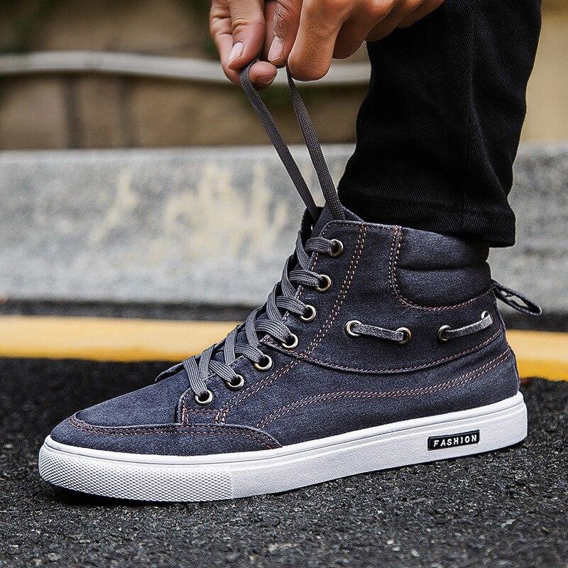 Lace Pour Arrivée bleu Casual Hommes Up Nouvelle De Chaussures Toile Respirant Appartements Mode gris D'été Noir x1gvUWqRwB