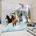 Китайские Роскошные затемненные 3D Оконные Занавески для гостиной  современные занавески на стену из плотного полиэстера/хлопка