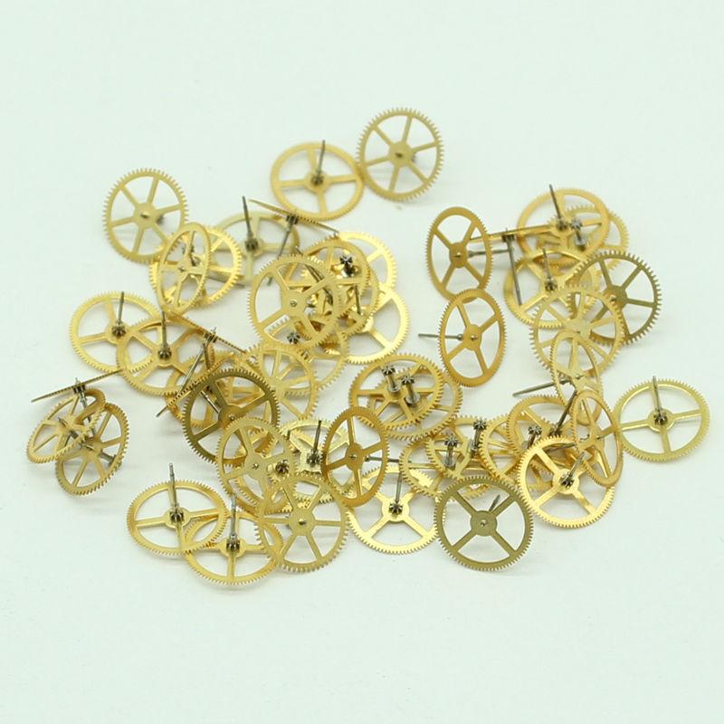 50 Pzlotto Oro Vintage Ingranaggi 68mm Steampunk Accessori Fai Da