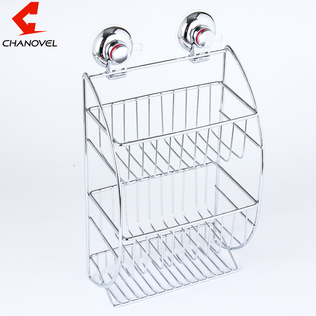 CHANOVEL Stainless steel Bathroom Shelves With Robe Hook 3 Tier ...