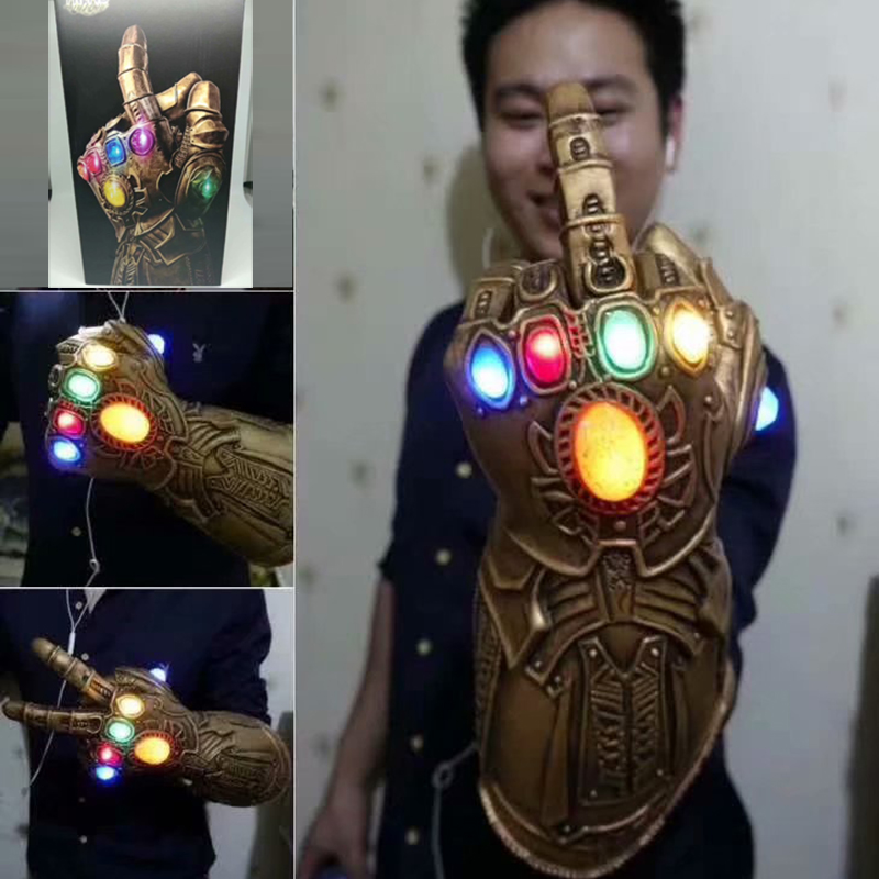 font-b-avengers-b-font-4-endgame-thanos-action-figure-led-infinity-stones-war-gauntlet-cosplay-glove-pvc-figure-collectible-model-gif-35cm