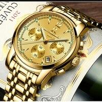 ONTHEEDGE Mens Watches Luxury Brand Fashion Business Quartz Watch Men Sport Stainless Steel Waterproof Wristwatch Clock