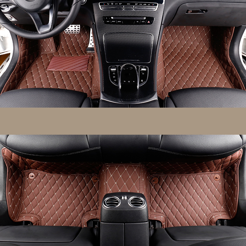 car styling fiber leather car floor interior mat for mercedes benz c-class w203 w204 w205 c180 c200 c300 c250 2001-2018 w204 c180 c200 c260 c300 carbon fiber car rear trunk lip spoiler wing for mercedes benz w204 c63 4 door 2008 2013 amg style