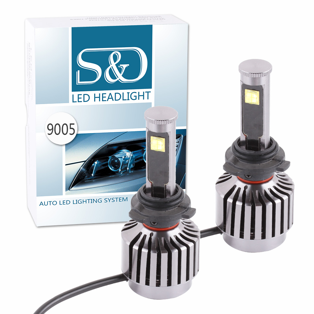 2PCS New All-in-one design 60W 6,000Lm HB3 9005  Cree Led Chip Headlight Bulbs Conversion Kit 30W Each Bulb - Plug & Play D025 2pcs 60w 6 000lm h11 h9 h8 cree led chip headlight bulbs conversion kit diy your color replaces bulbs d035