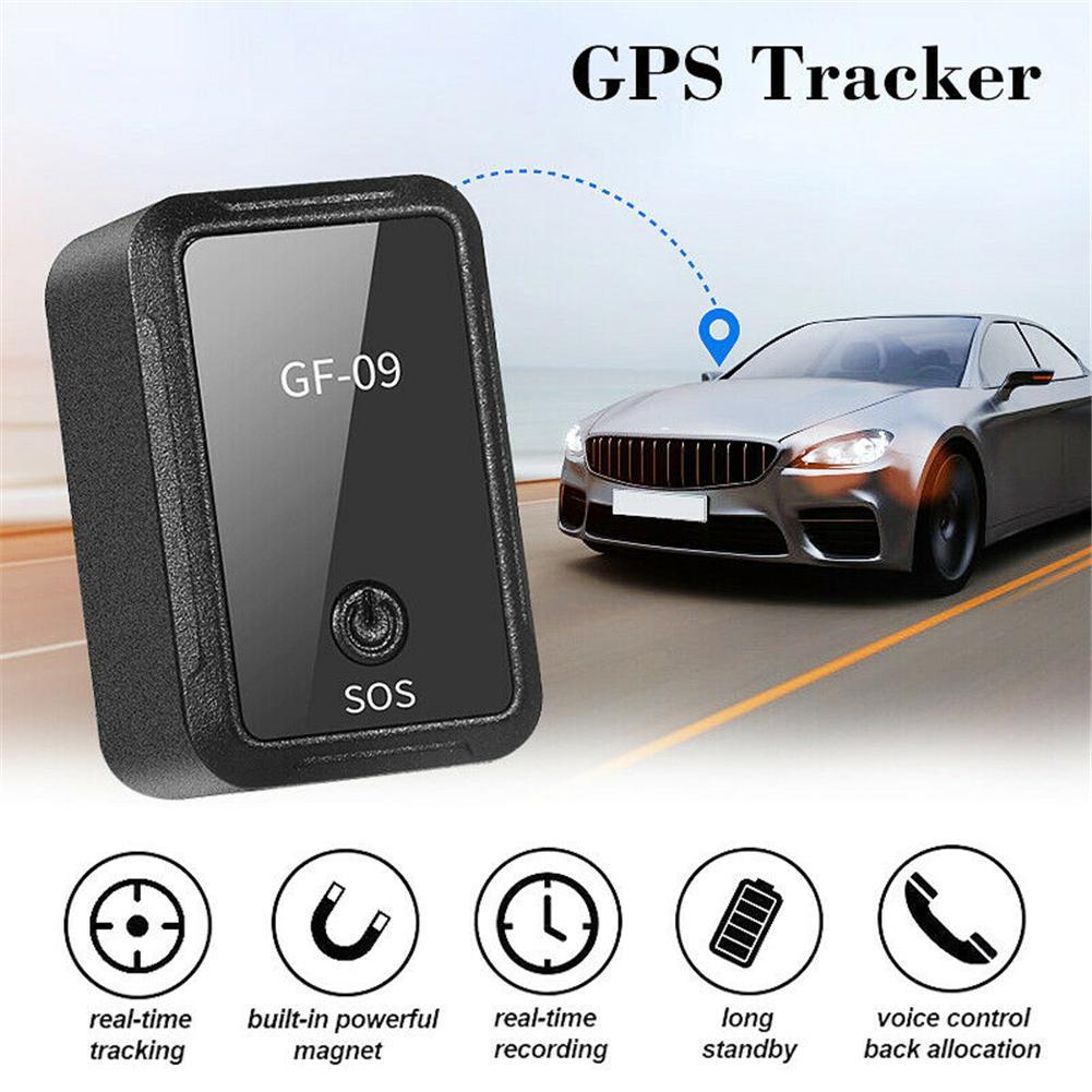 Otomobiller ve Motosikletler'ten GPS İzleyiciler'de Geliştirilmiş GF 09 mini gps takip cihazı APP kontrolü hırsızlık cihazı bulucu manyetik ses kaydedici için araç/araba/kişi konum title=