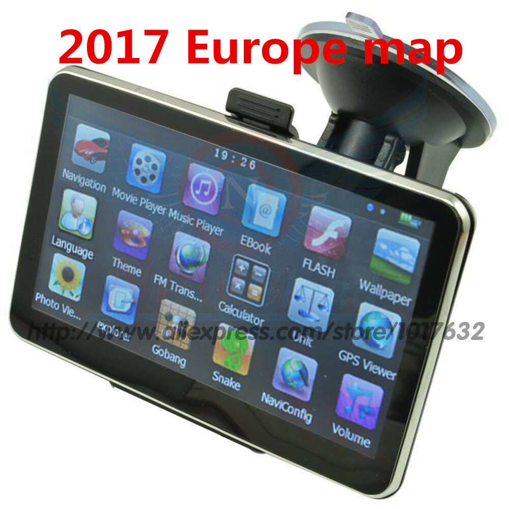 Car GPS Navigation Europe-Map 5inch Mp3/mp4-Truck 8GB Ddr FM 128M Xster Russian