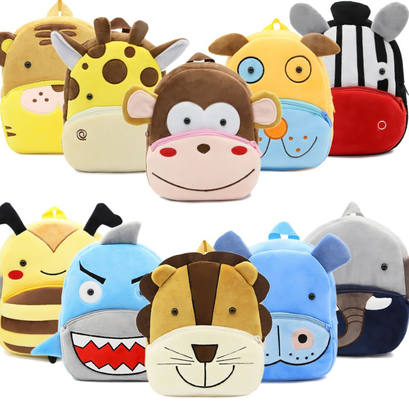 2018 Plush Children Backpacks Kindergarten Schoolbag 3D Cartoon Monkey Animal Kids Backpack Children School Bags for Girls Boys girls animal school bags backpack 3d dinosaur backpack for boys children backpacks kids kindergarten small schoolbag