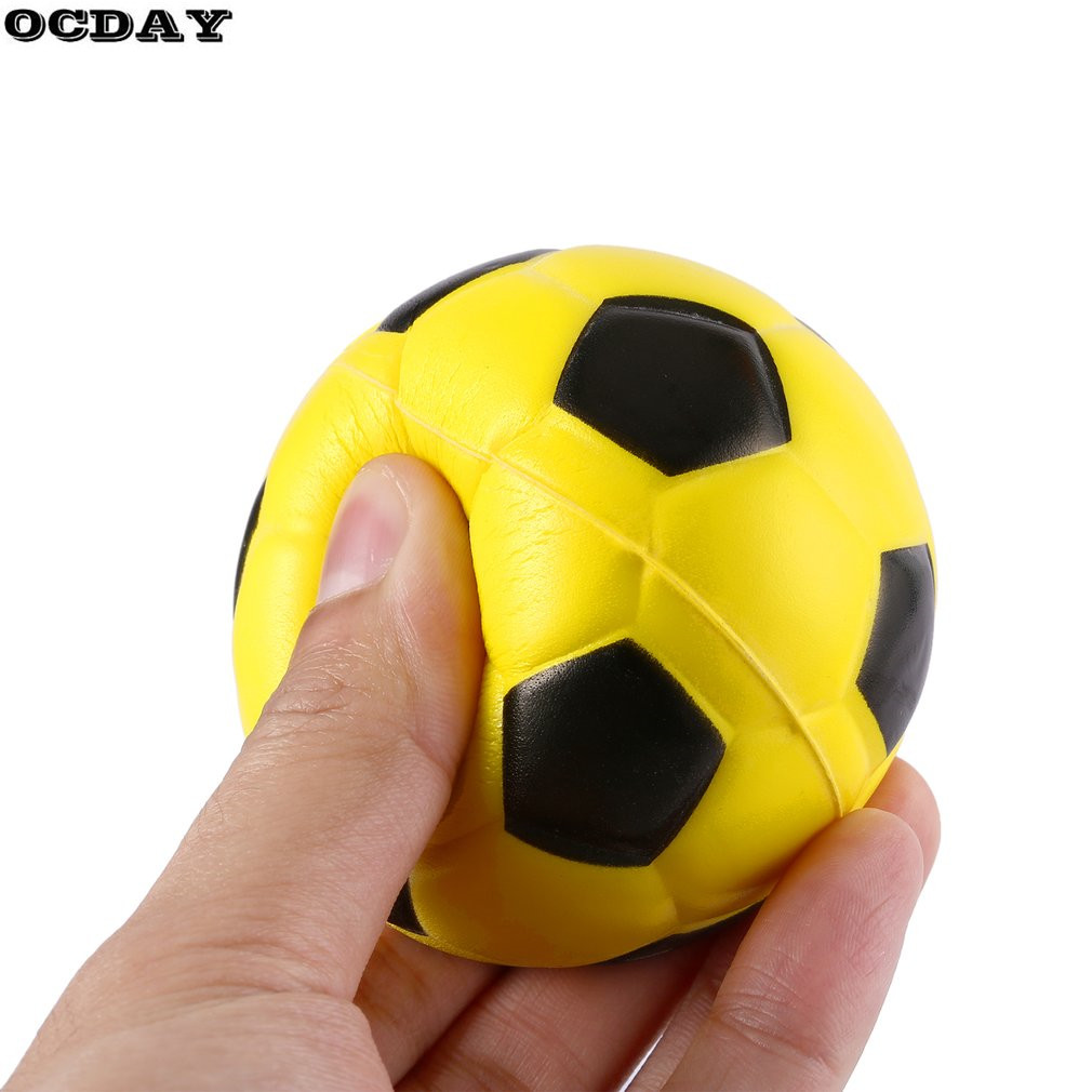 12PCS/lot Football Stress Relief Sponge Foam Balls Hand Strength Squeeze Stress Ball Chi ...
