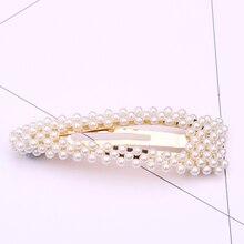 pearl hair clips for women korean accessories barrettes metal pin accessoire cheveux