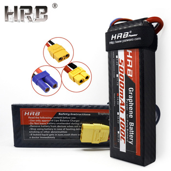 HRB 5000mah Graphene 4S 14.8V Lipo Battery XT90 XT60 EC5 TRX Connectors For RC Boat Car Airplane Truck 100C Deans T Hobby Parts