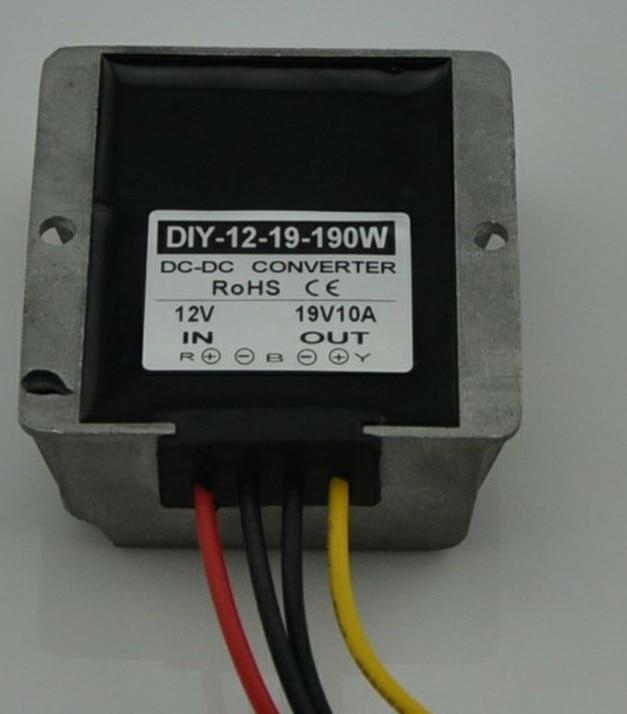 12V(9V-18V) Step Up To 19V 10A 190W DC DC Converter Boost Power Module Car Power Supply Adapter Regulator Waterproof converter dc 12v 9v 27v step up to 28v 10a 280w dc dc waterproof boost power module power supply adapter voltage regulator