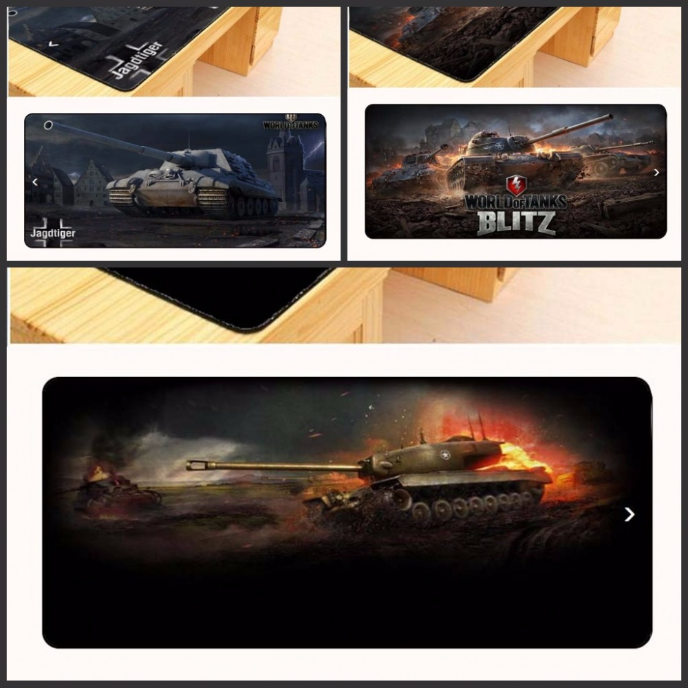 Yuzuoan Wholesale Large Rubber Mousepad World of Tanks Style Gaming Mouse Pad PC Computer Laptop Gaming Mice Mat For Gamer