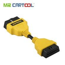 Autool obd2 cabo 14 cm 1 m 1.5 m 40in obdii extensão do carro cabos & conectores para idiag/5c/v/golo estender obdii cabo odb adaptador