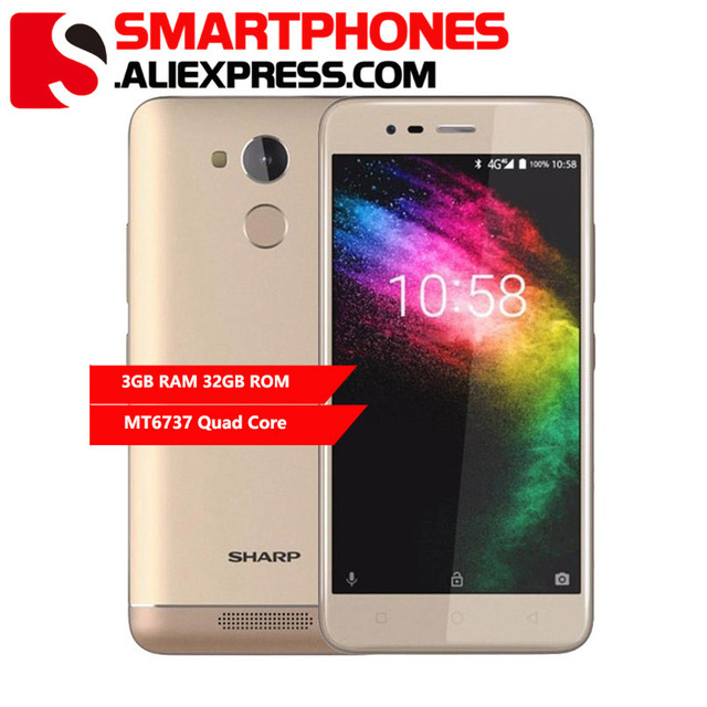 Sharp R1 3GB RAM 32GB ROM 5.2 Inch 720x1280px 16:9 Smartphone MT6737 Quad Core Mobile Phone 4000mAh Android Cellphone