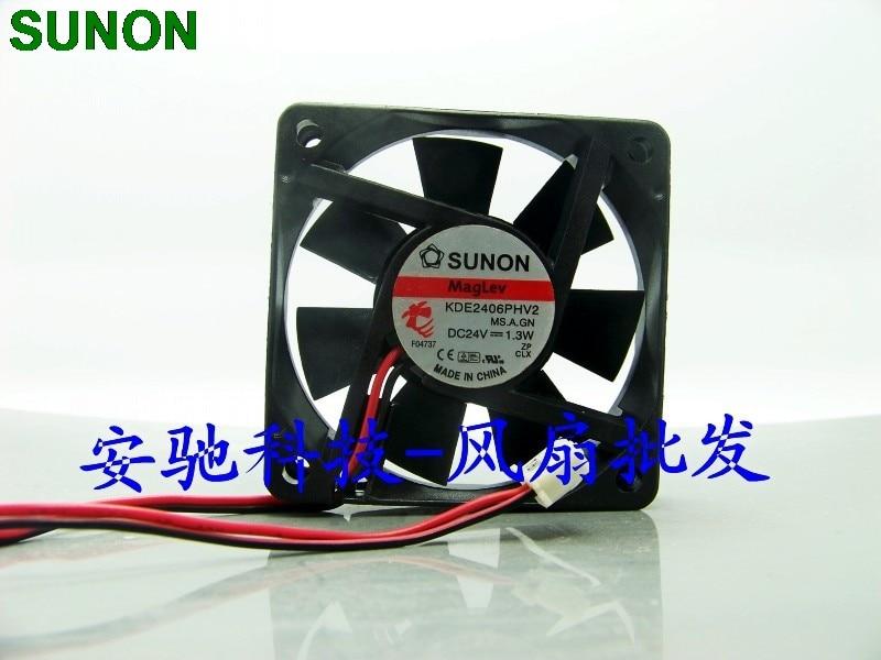 Original SUNON KDE2406PHV2 6015 60mm DC 24V 1.3W maglev IPC axial cooling fans lacywear s 21 phv