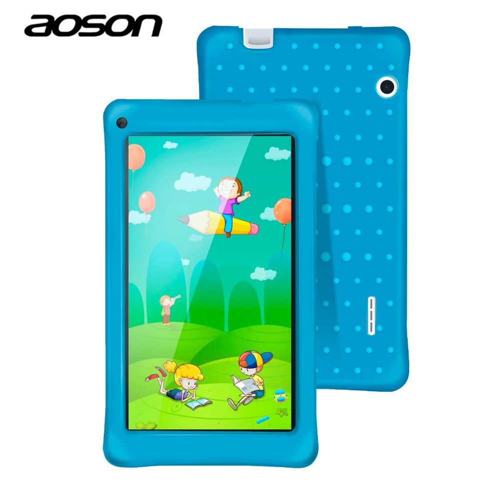 AOSON 7 Inch M751-S PC Tablet For Children Quad Core 8GB ROM 1GB RAM Android 5.1 IPS 1024*600 Screen Dual Camera Bluetooth Wifi mk808b rk3066 dual core android 4 2 mini pc w 8gb rom 1gb ram bluetooth rii i8 air mouse