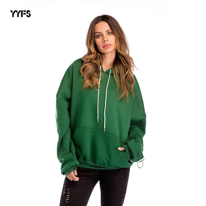 Casual Hoodies Women Clothes 2018 Autumn Winter Thicken Hooded Sweatshirt  Female Long Sleeve Top Moletom Poleron 93656a050fe9