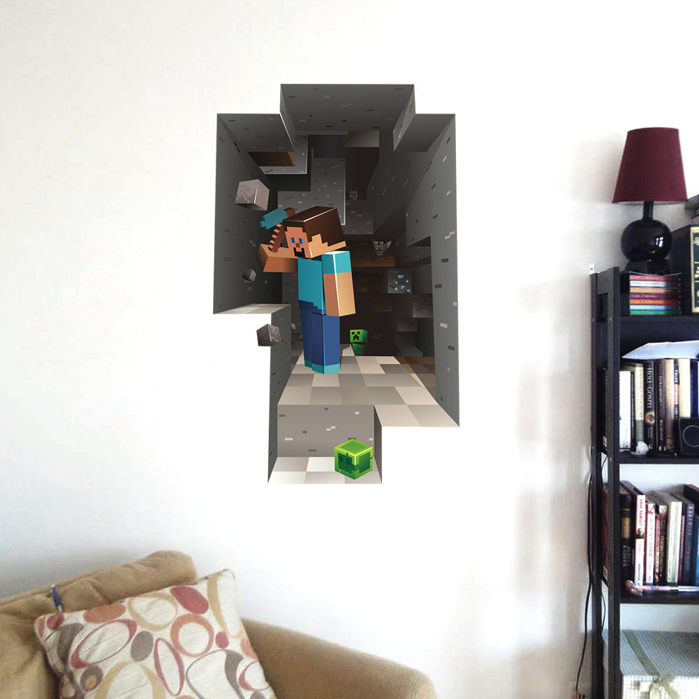 Tienda Online Nueva Minecraft 3d Etiqueta De La Pared Para La  ~ Fotos En La Pared De La Habitacion