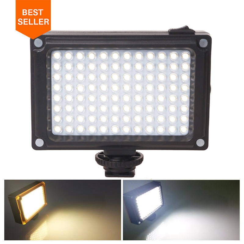 Ulanzi 96 LED Phone Video Light Foto iluminación en cámara Hot Shoe Lámpara LED para iPhone Xs Max X 8 Videocámara Canon Nikon DSLR