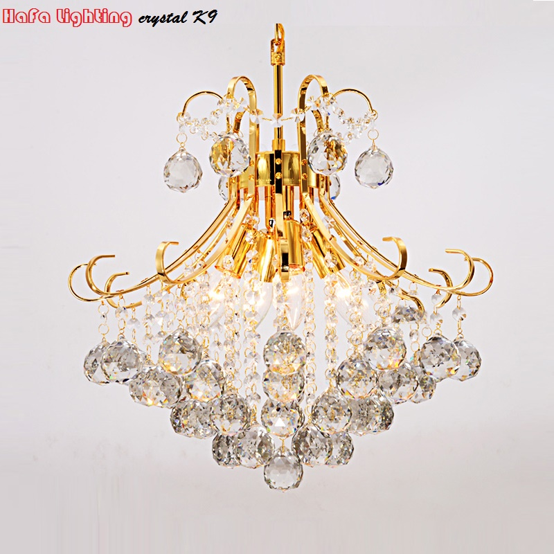 Modern Silver/Gold Transparent /cognic Crystal Chandelier lustres de cristal indoor Lights Crystal Pendants Living Room Lamp