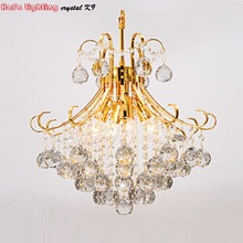 Crystal Pendants Indoor-Lights Living-Room-Lamp Lustres-De-Cristal Modern-Silver/gold