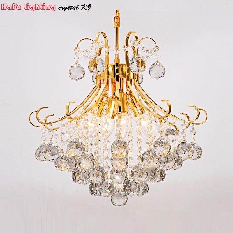 Moderne argent/or Transparent/cognic cristal lustre lustres de cristal intérieur lumières cristal pendentifs lampe de salon