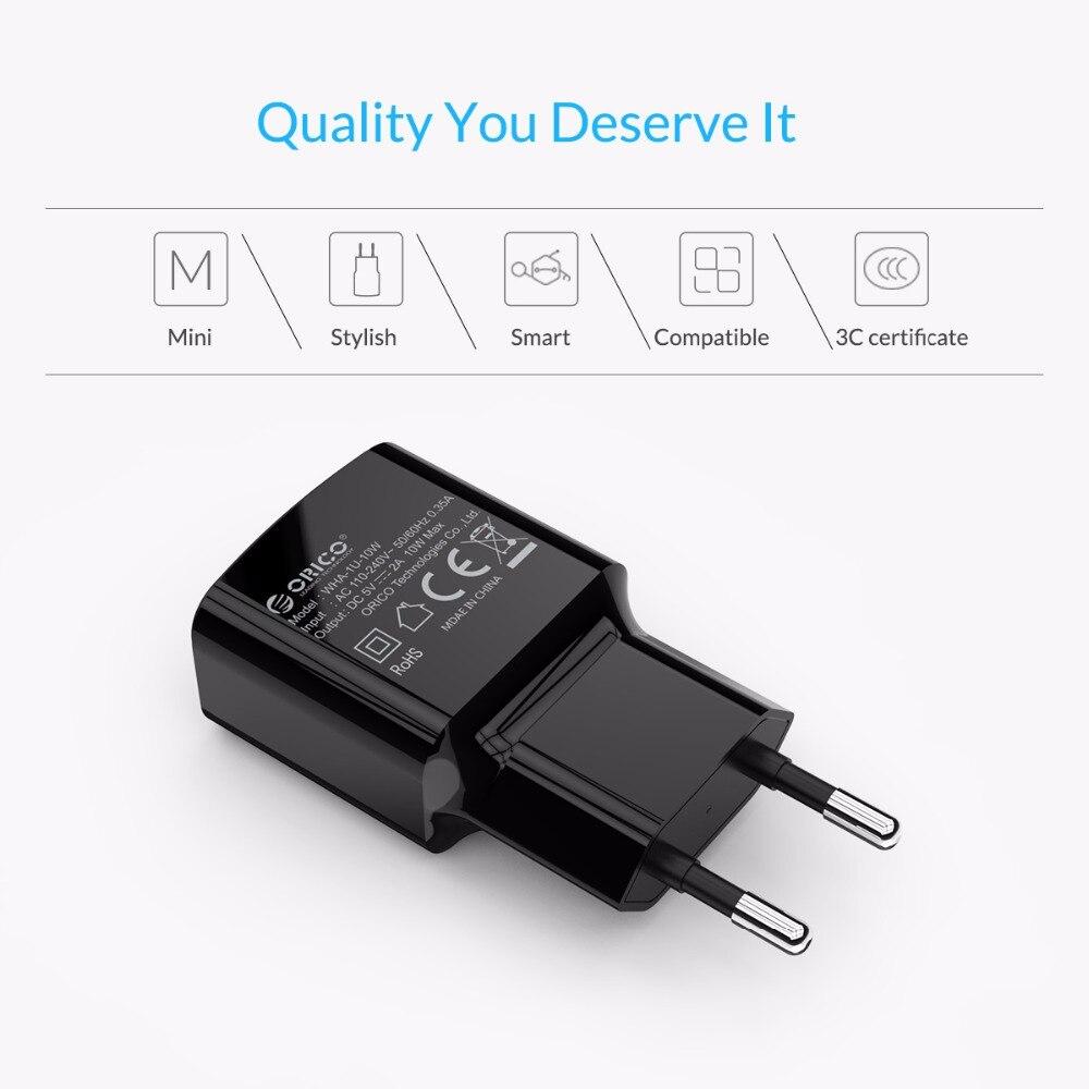 Orico Mobile Phone Charger 5v1a5w 5v2a10w Usb Travel Circuit Diagram Portable Wall Adapter Eu Plug Black White Tmnews