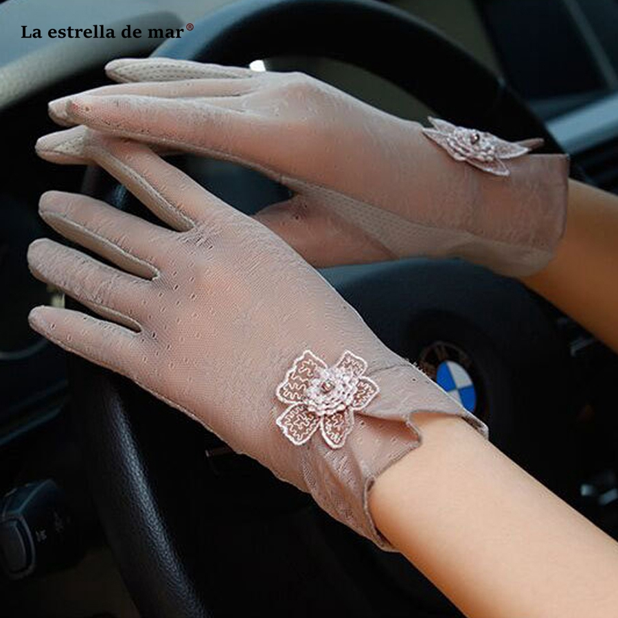 Gants Mariage New Lace Black Champagne Purple Blush Pink Wedding Evening Dress Gloves Short Touch Screen Gloves Cheap