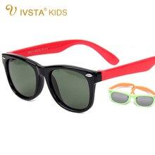 IVSTA Поляризованные Детские Солнцезащитные Очки Девушки TR90 Очки Зеркало Синий Покрытия Резиновые Мальчики Детские Солнцезащитные Очки 802 Оптовая Спортивная