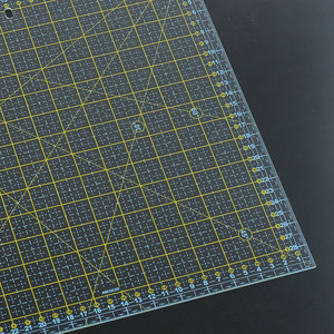 Image 3 - 스퀘어 30*30 Cm 패치 워크 눈금자 두꺼운 아크릴 투명한 퀼트 재봉 눈금자 재단사 스텐실 측정 도구 용 눈금자 절단
