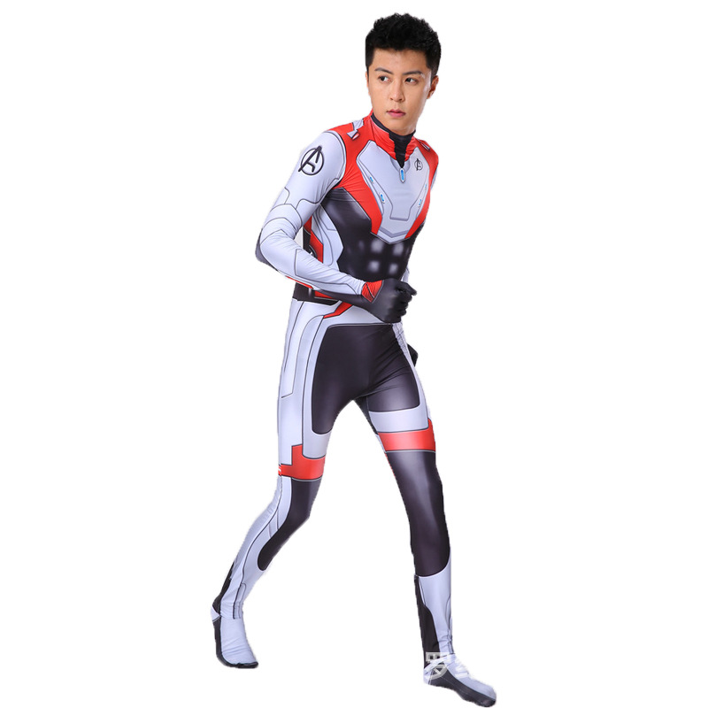 Avengers Endgame Quantum Realm Kostuum Advanced Tech Cosplay Costume 3D Print Spandex Zentai Fullbody Suit For Kids Adult Custom