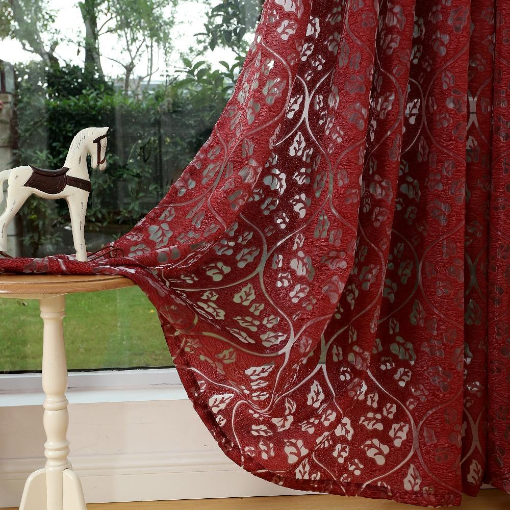 Living room curtains red - Red Curtains Window Treatments Semi Blackout Curtains 3d Fashion Design Modern Curtains For Living Room