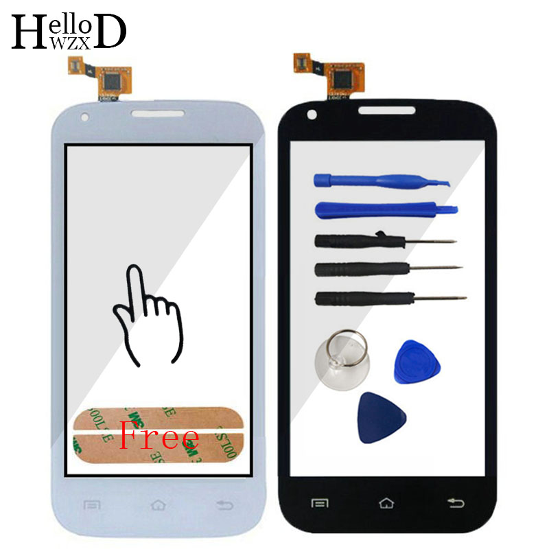 HighScreen Touch Glass For FLY IQ4406 IQ 4406 ERA Nano 6 Screen Digitizer Panel Lens Sensor Flex Cable Parts Tools Free Adhesive