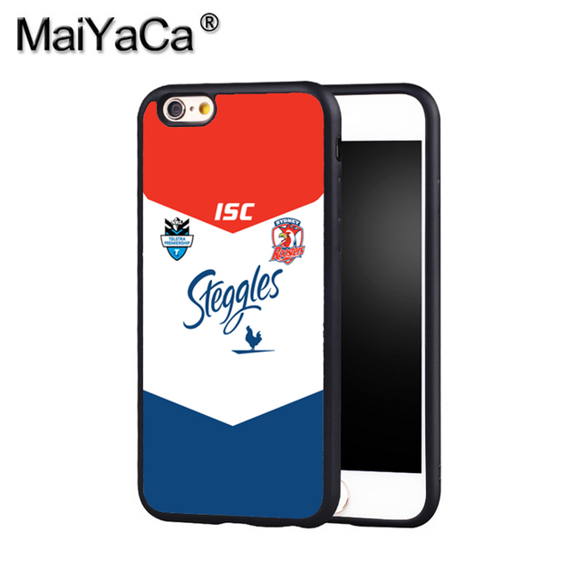 pretty nice 0c94c 716e0 US $6.3 |MaiYaCa NRL Sydney Roosters 9 Phone Case Cover For Iphone X 8 6 6S  Plus 7 7 Plus 5 5S 5C 4S SE Print Soft Rubber Case-in Fitted Cases from ...