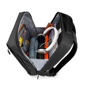 """Image 2 - Tigerنو العلامة التجارية USB تهمة الذكور على ظهره مكافحة سرقة Mochila 1415 """"كمبيوتر محمول حقيبة ظهر للعمل حقيبة الرجال على ظهره المرأة حقيبة مدرسية"""