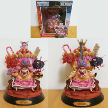 Anime One Piece Big Mom Charlotte Linlin 25cm PVC Action Figure Model Doll Toys In Retail Boxed цена
