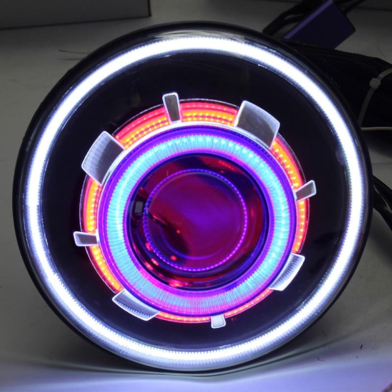 2 шт. светодиодный 7 35 Вт Светодиодный прожектор головной светильник для Jeep CJ/Wrangler JK светодиодный светильник для вождения с H4 H13 головной све
