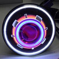 2 шт. светодио дный 7 35 Вт светодио дный проектор фара для Jeep CJ/Wrangler JK светодио дный дальнего света с H4 H13 фары