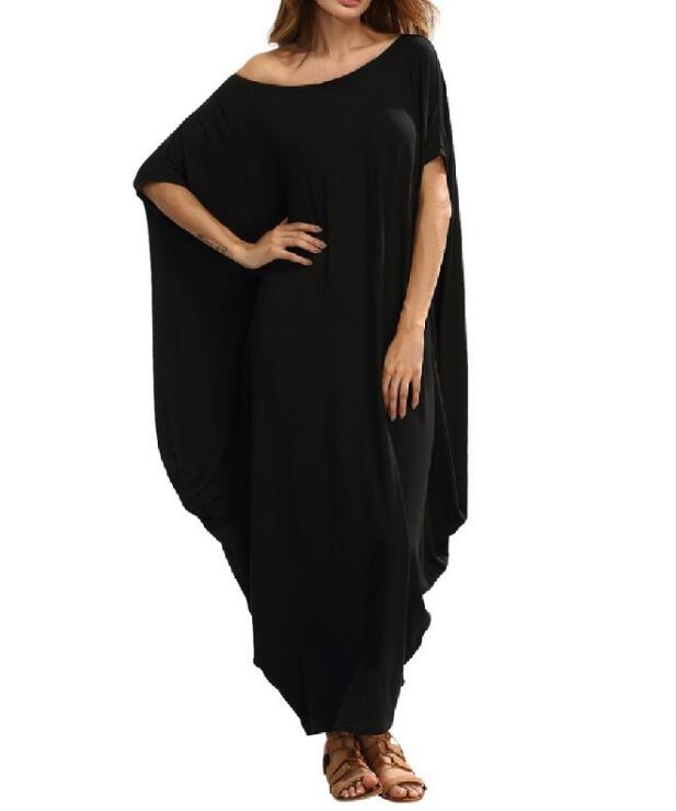 571aeb2d922ad Aliexpress.com : Buy Loose Maxi Dress for Women Batwing Sleeve O neck  Casual Summer Dress Plus Size Party Club T shirt Dresses Female WS8866M  from ...
