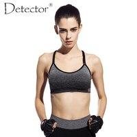 Detector Women Quick Drying Shock Absorption Professional Sports Yoga Bra Tank Top Vest Sport Fitness Yoga