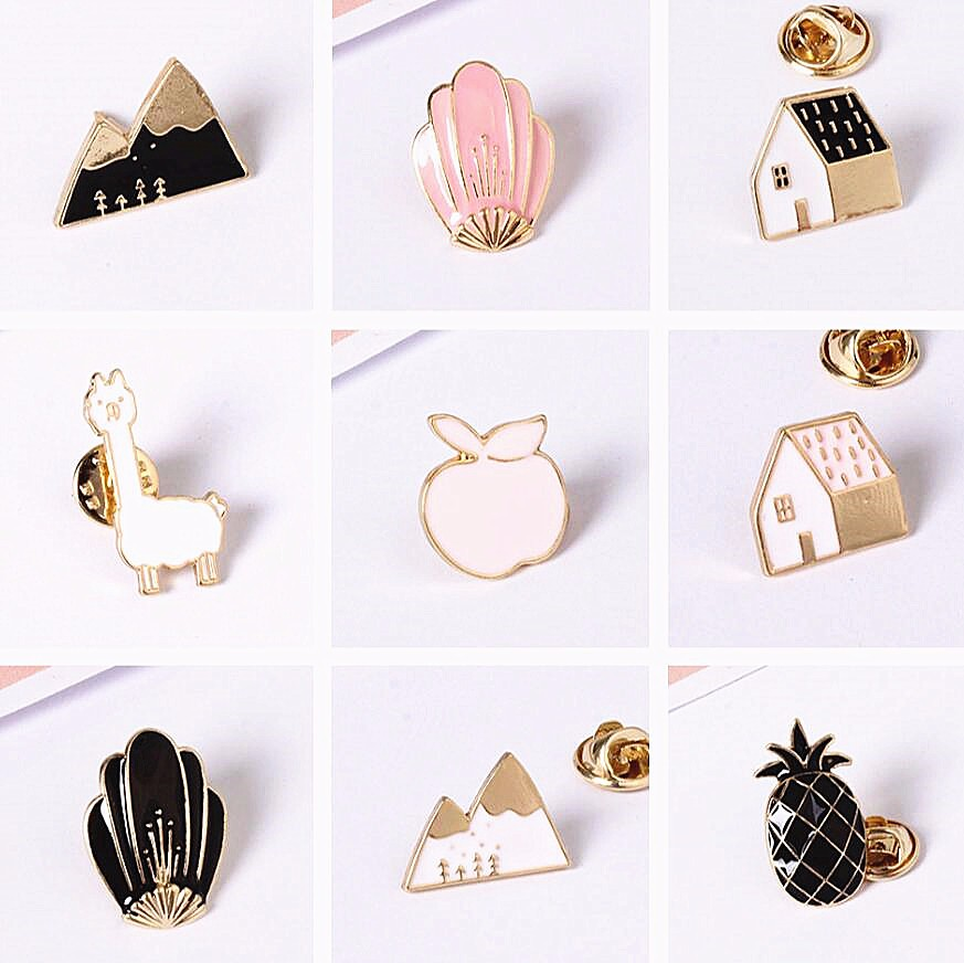 Timlee X177 Cartoon Cute Animal House Montain Fox Design Metal Brooches Pins  Button Enamel Pins Wholesale TLW In Brooches From Jewelry U0026 Accessories On  ...