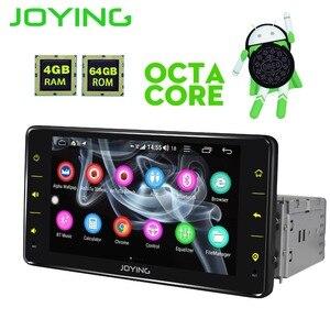 Image 4 - JOYING واحد الدين سيارة راديو الروبوت 8.1 4GB Ram 64GB Rom دعم 3G/4G الثماني النواة GPS ستيريو FM AM DSP 6.2 بوصة العالمي autoradio
