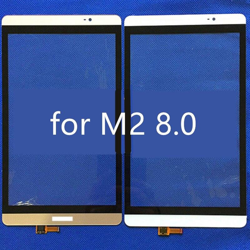 imágenes para 8.0 pulgadas De pantalla táctil de la tableta Huawei Mediapad M2 8.0 M2-801L con Panel Frontal Exterior de la Lente de Cristal digitalizador de piezas de repuesto