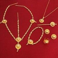 Habesha Set Ethiopia Style 24K Gold Plated Eritrea Ethiopian Easter Jewelry Set
