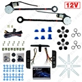 12V Car Universal 2-Doors Electric Power Window Kits with 3pcs/Set Moom Switches #FD-4419